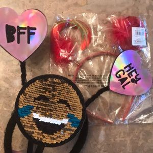🎉FREE w/purchase...headband emoji, BFF, Xmas
